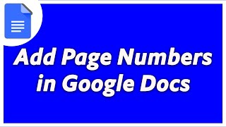 How To Insert Page Numbers In Google Docs