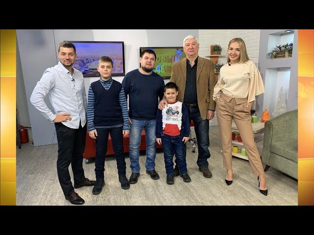 Гости программы «Новый день» Виктор Саютин, Добрыня Петров и Сергей Петров