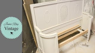 How To Build A Bench From A Headboard And Curved Footboard | Part 1