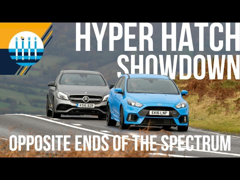 Should you spend DOUBLE to get 25 MORE HORSEPOWER?!?! - Ford Focus RS vs Mercedes-AMG GLA45