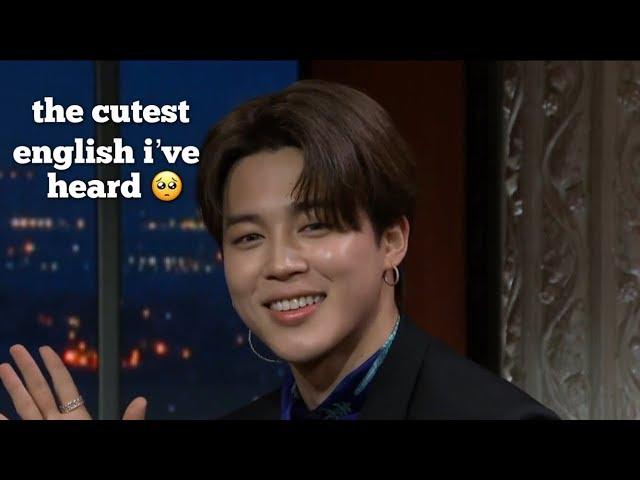 jimin is secretly fluent in english