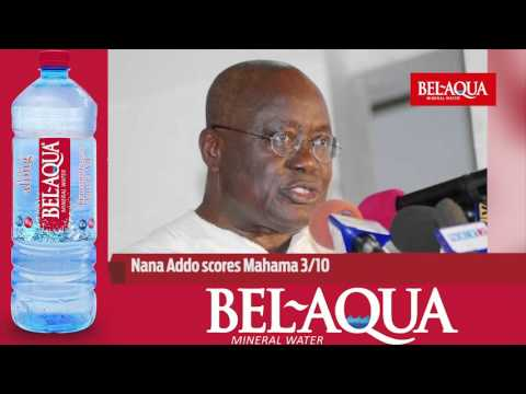 News On The Go: Nana Addo scores Mahama 3/10 [March 29, 2016]