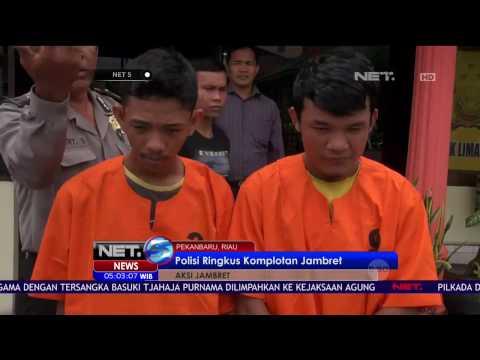 Komplotan Jambret Diringkus Satuan Polisi Sektor Lima Puluh Pekanbaru Riau - NET 5