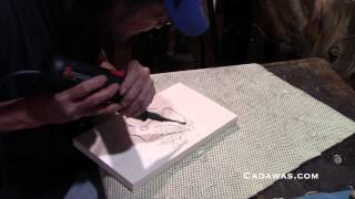 Blackhawks Logo In 90 Seconds Using A Skil Tools Power Carver
