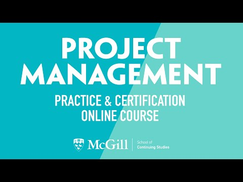 Project Management: Practice and Certification Online Course ...