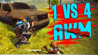 One Vs Squad Play Like Hacker   Garena Free Fire  Total Gaming