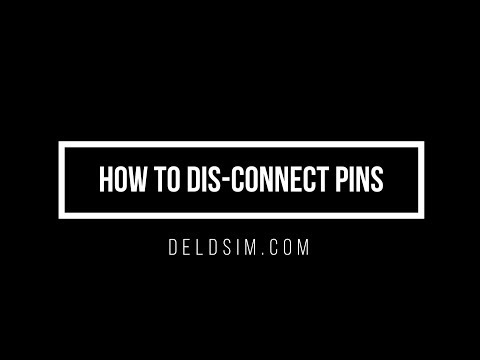 How to Dis-connect pin connections