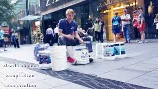 Best street drummer ever in world compilation 2015