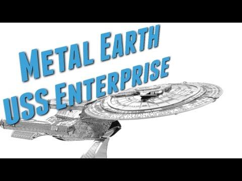 USS ENTERPRISE 1701 D - Metal Earth METALL Bausatz ohne kleben oder löten aber mit viel Geduld