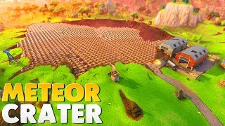 COVERING THE METEOR CRATER WITH PYRAMIDS   Fortnite Battle Royale