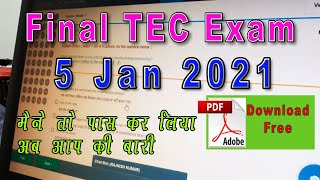 TEC FINAL EXAM WITH PDF JANUARY EXAM 2021 LIVE 100% PASS GUARANTEE LATEST