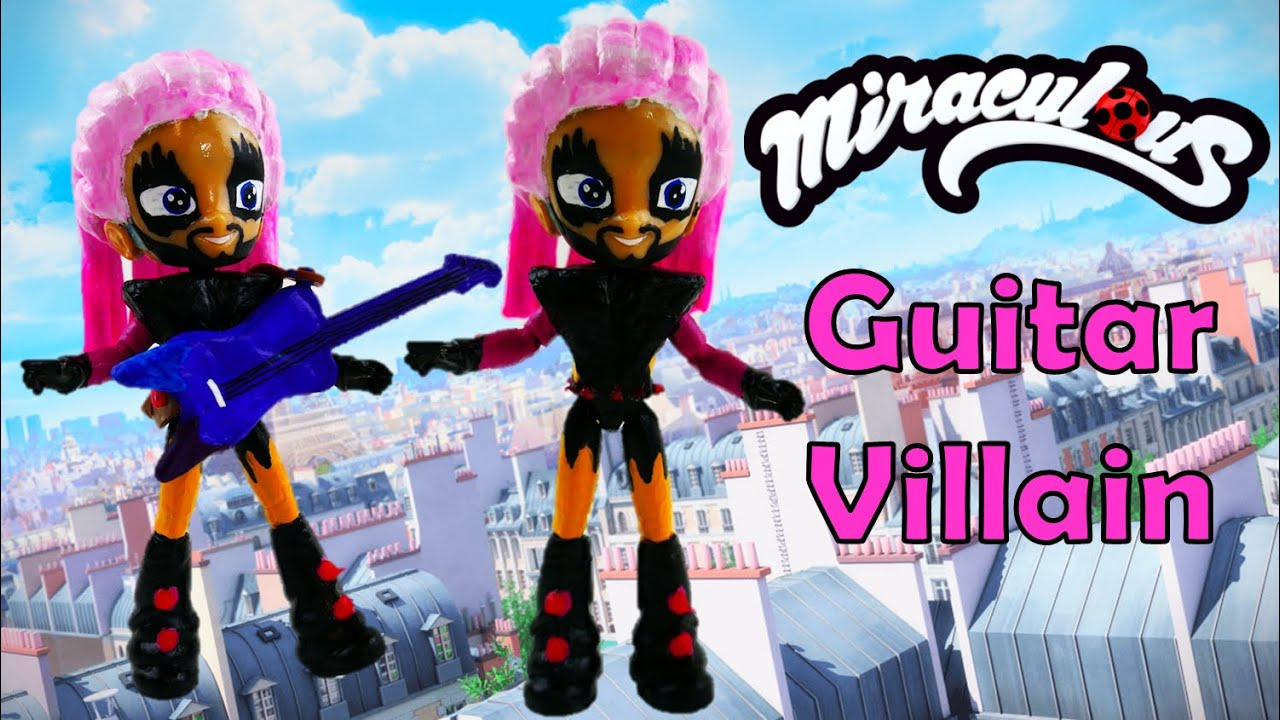 Jagged Stone GUITAR VILLAIN Doll - How to make Miraculous Ladybug Toys from MLP Equestria Girls