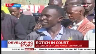Eldoret resident  give their views on the war against graft and the arrest of CS Rotich
