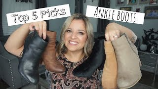 Ankle Boots- My Top 5 Picks