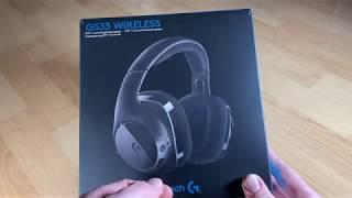 Logitech G533 Wireless Gaming-Headset 7.1 Surround Sound DTS Headphone 3D Pro-G unboxing + Anleitung