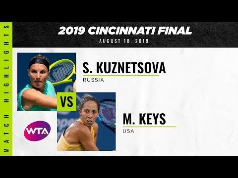 Svetlana Kuznetsova vs. Madison Keys | 2019 Western & Southern Open Final | WTA Highlights