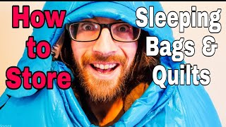 How to Store a Down Sleeping Bag or Quilt