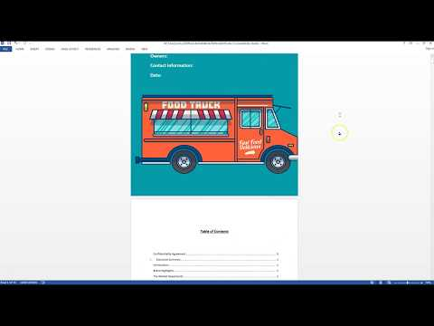 , title : 'food truck business plan template sample video