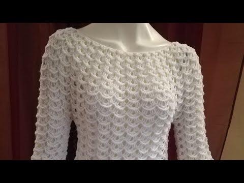 Uncinetto Maglia Top Down Crochet Punto Onde 3d смотреть онлайн