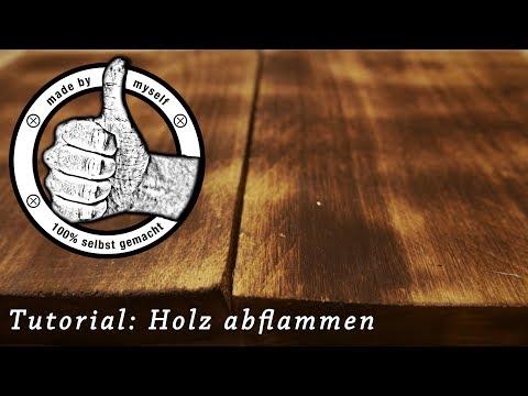 Paletten Holz flammen abflammen flämmen künstlich altern flaming wood DIY antik Vintage (ENG SUB)