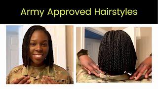 Crochet Senegalese Twist BOB | Military Hairstyles For Black Women PART 1