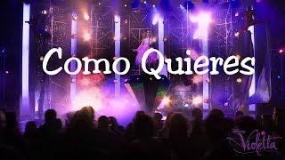 Violetta 2 - Como Quieres (Karaoke / Instrumental) Letra