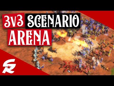 AMAZING 3v3 Arena Scenario!! | Classic & Casual | Age of Empires III