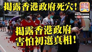 7.12  政治分析【揭露香港政府死穴!】揭露香港政府害怕初選真相!