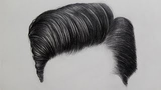STEP-BY-STEP DRAWING OF MENS HAIR | Tutorial For Beginners