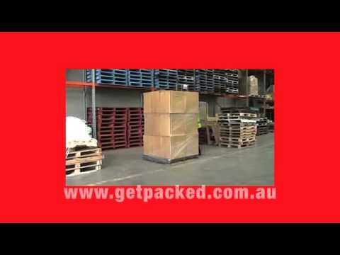 GoodPack R-Wrapper manual pallet wrapping trolley
