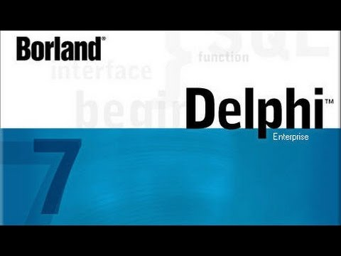 Learning Delphi programming  tutorial #1 (hello world)