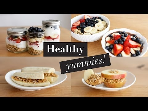 Video 3 Simple Healthy Breakfast Snacks | Acai Bowl & Fruit Sandwiches | ANN LE