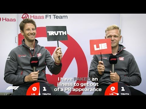 Haas' Romain Grosjean and Kevin Magnussen | Grill the Grid: Truth or Lie?