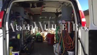 Jet Rack Ladder Storage Solutions For Work Van Interiors