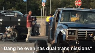 MudTruck on $10,000 wheels goes to McDonald's and Walmart and THEY LOVE IT