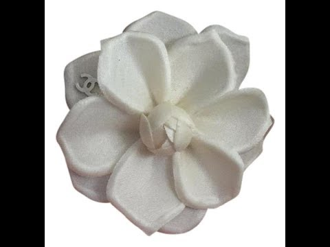 #Chanelbrooch 2016 Chanel off white silk flower brooch review