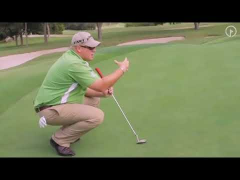 Reading Greens Up Close While Putting