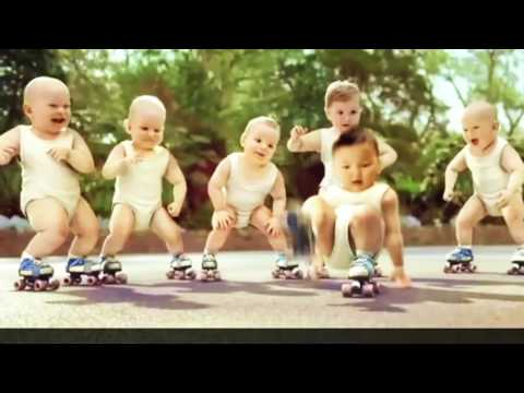 Grappige filmpjes humor kaarten, Evian Roller Babies International Version funny humor