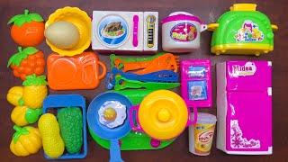 Đồ chơi nấu ăn bé gái 25 món có tủ lạnh, bếp, lò nướng, nồi chảo, rau củ, thìa dĩa... cooking toys