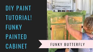 Funky Painted Cabinet Tutorial