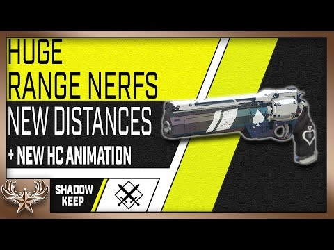 HUGE range nerfs to Pulses and Handcannons!  New Distances (Destiny 2 ShadowKeep)