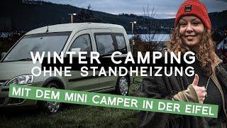 Winter Camping Vlog: Mini Camper Wintertour in die Eifel ohne Standheizung | Wintercamping