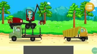 Щенячий патруль строительная техника: бульдозер,самосвал, камаз, погрузчик. Мультики про машинки