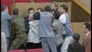 Zhirinovsky fights in Russian Duma