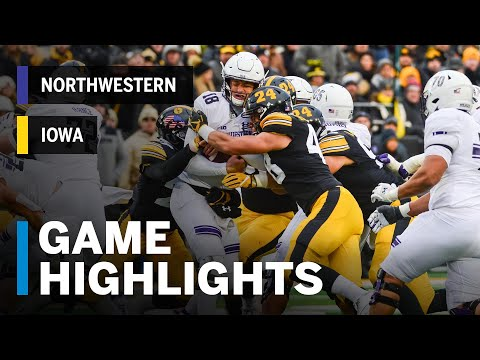 Highlights: Northwestern Wildcats Vs. Iowa Hawkeyes | Big Ten Football Mp3
