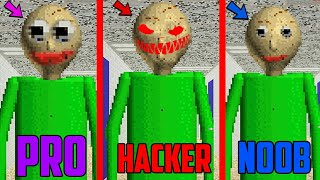 HACKER vs PRO vs NOOB in Baldi