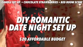 HOW TO CREATE A ROMANTIC SURPRISE SET-UP ON A BUDGET‼️ DIY ROMANTIC DATE/ANNIVERSARY NIGHT AT HOME❤️