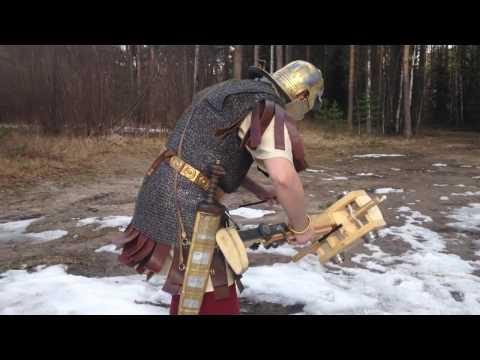 Древний Рим - Ручная римская баллиста видео