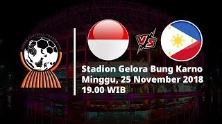 Live Streaming RCTI Piala AFF 2018, Indonesia vs Filipina Pukul 19.00 WIB