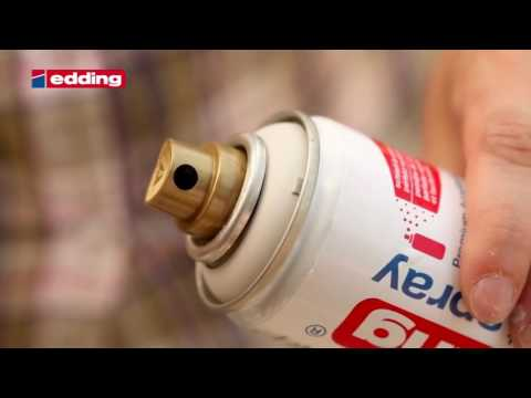 45200- Edding Permanent Spray - Tutorial